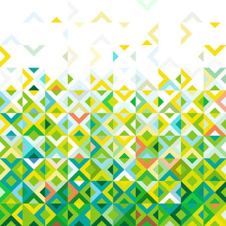 Resumen de colores de mezcla del mosaico del patrón de diseño geométrico, tonos de gradación de color abajo al principio de la parte, el vector