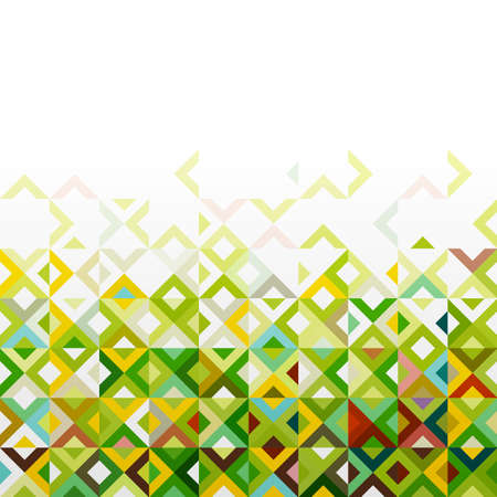abstract pattern: Abstract mosaic mix geometric pattern design, colorful tone on below part, vector Illustration