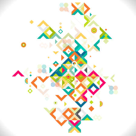 Abstract colorful and creative mix geometrical template, vector