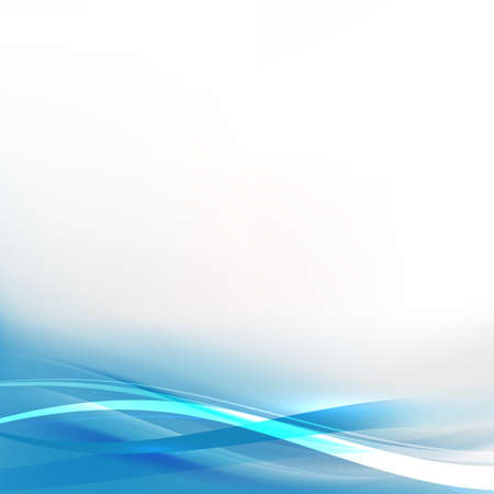 Abstract background with transparent blue wave, vector