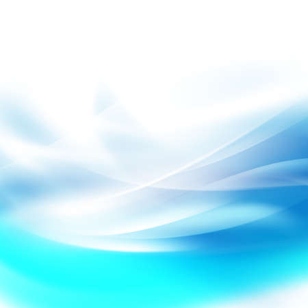 Abstract smooth blue flow background for nature, technology or science concept presentation, Vector illustration Illustration