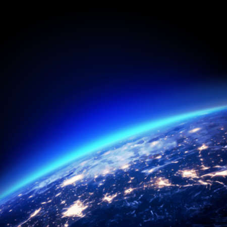 earth from space: earth and light horizon from space, vector illustrator Illustration