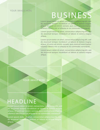 edge design: leaflet, brochure, flyer template with abstract modern geometric pattern for business or technology presentation, vector illustration