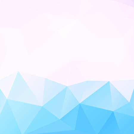 polygons: Low poly blue geometric background and space for your text, vector illustration