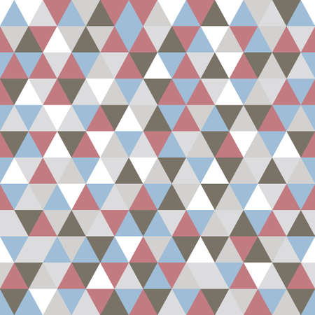 retro fashion: Triangle pattern with retro and fashion concept seamless background, vector illustration Illustration