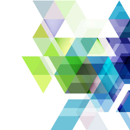 Abstract colorful geometric and modern overlapping triangles on white. Modern background for business or technology presentation, app cover template, vector illustration