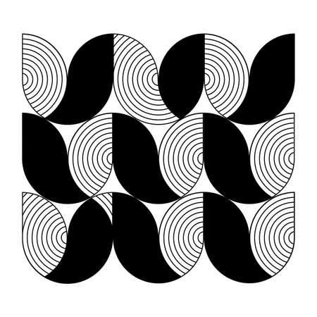 flower shape: minimal geometric pattern, flower shape and line concept on white for corporate business identity design, online presentation, website element, cover page, brochure, poster layout, vector illustration Illustration