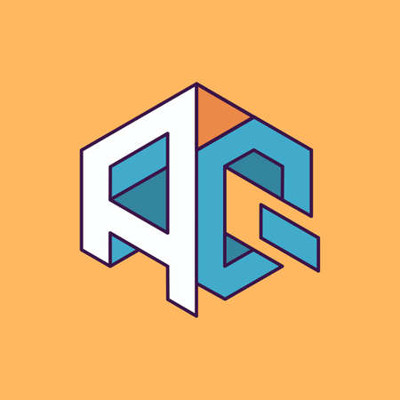 publication: A Q  monogram lettering with perspective geometric concept for Corporate business identity design, printing, publication, T-shirt design. vector illustration Illustration