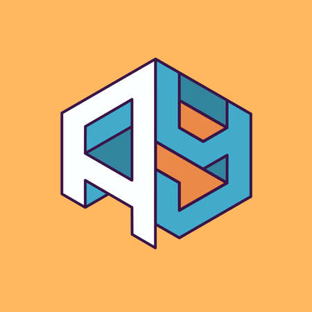publication: A Y  monogram lettering with perspective geometric concept for Corporate business identity design, printing, publication, T-shirt design. vector illustration