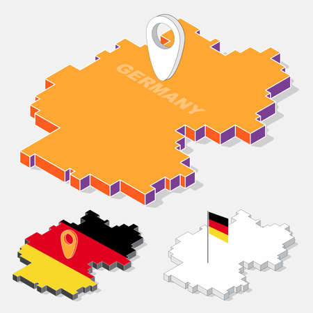 Germany Map Vector Stock Illustrations Cliparts And Royalty - Germany map shape
