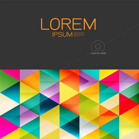 business space: Abstract colorful geometric layout template and modern overlapping background with space for text and your pic . Modern background for business or technology, online presentation website element. Illustration
