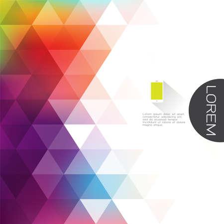 Kleurrijke transparantie en vervagen driehoek achtergrond met witte ruimte naast tekst. Moderne achtergrond voor zakelijke of technologische presentatie. Vector illustratie