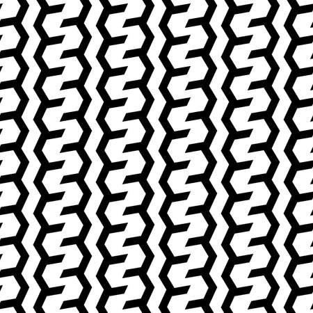 Vector zigzags or tires seamless pattern style for corporate background.