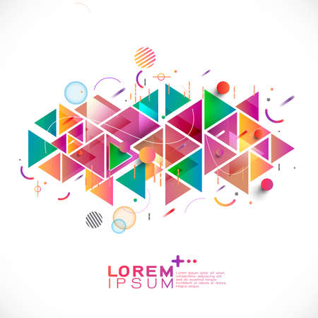 Abstract colorful and mixed creative geometric template Vetores