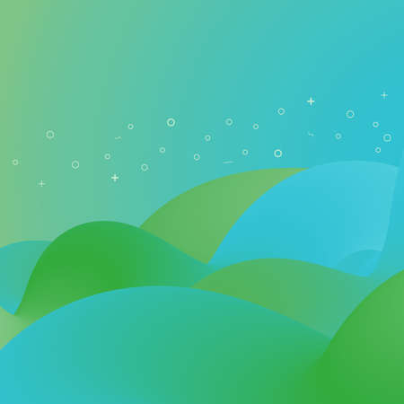 Abstract trendy gradient fluid shapes background. Vector illustration