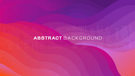 Abstract 3d gradient wavy shapes composition background.  Vector illustration