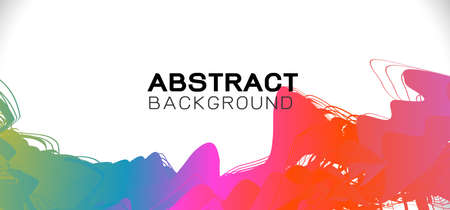 bstract colorful brush stroke on border and space background, Vector illustration Иллюстрация