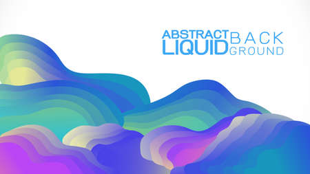 Abstract gradient liquid concept wavy shapes composition background.  Vector illustration Иллюстрация