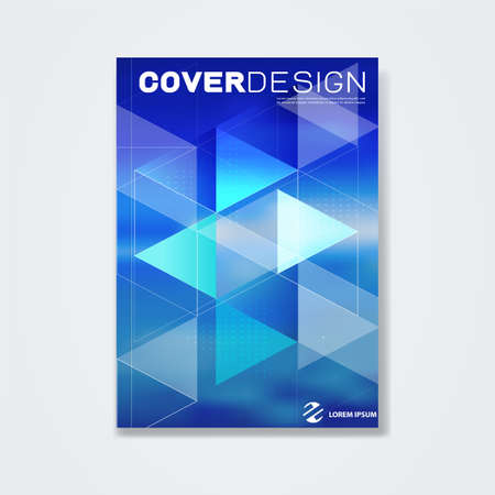 Cover template, brochure template layout, book cover, annual report, magazine or booklet for for technology concept or corporate business in A4 size, vector illustration