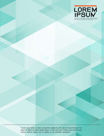 leaflet, brochure, flyer template with abstract modern transparency polygon geometric pattern for business or technology presentation, vector illustration
