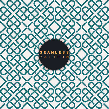 Vector seamless pattern. Repeating geometric tiles with linear grid heart concept. Modern stylish texture and trendy graphic design. Иллюстрация