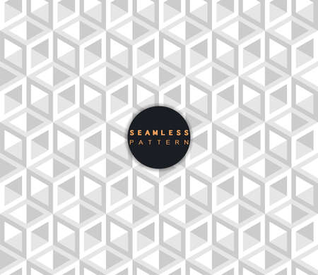 Vector decorative white seamless pattern. Repeating white 3d geometric cubes. Modern stylish texture and trendy graphic design. Иллюстрация