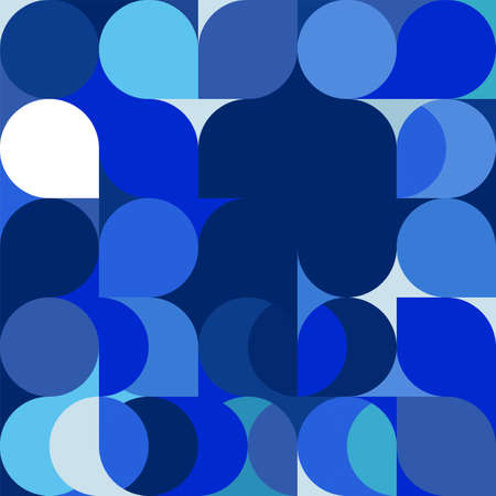 Abstract trendy geometric background with repeating grid pattern . Minimal blue pattern geometric design. vector illustration.
