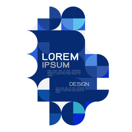 Abstract trendy geometric template with blue repeating grid pattern . Minimal pattern geometric design. vector illustration.
