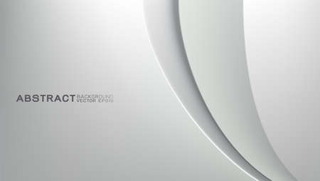 Vector design trendy and technology concept. Curve and waving shiny metallic texture and copy space