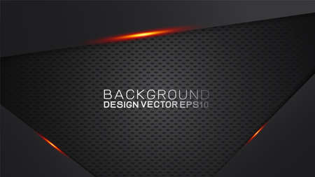 Vector design trendy and technology concept. Frame border dimension by carbon fiber texture and copy space on dark