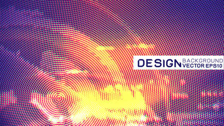 Abstract futuristic data technology concept with halftone and dots texture