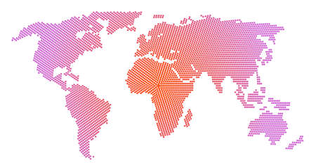 World map with dots pattern style isolate on white Иллюстрация