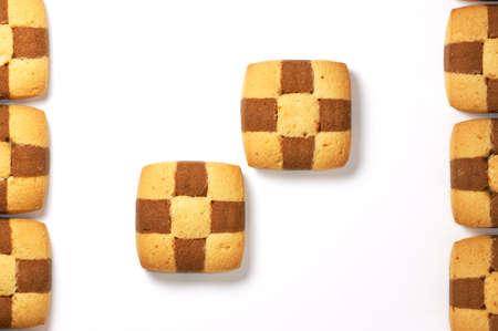 Pastry on white background Zdjęcie Seryjne