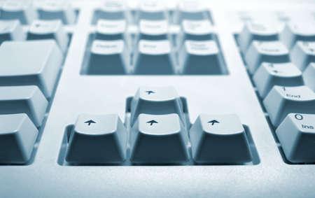 Go forward - computer keyboard perspective shot Zdjęcie Seryjne