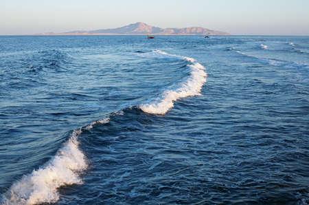 Sea waves landscape background - Red Sea. Egypt.