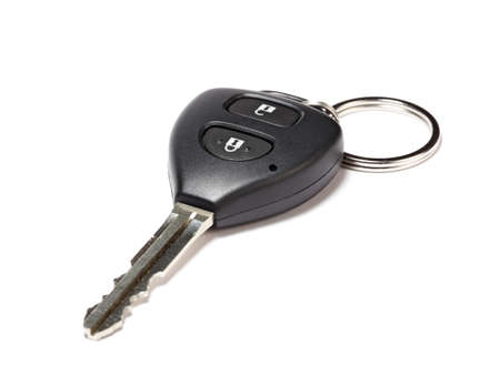 Car key isolated on white background with light shadow