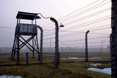 birkenau: control tower at Birkenau