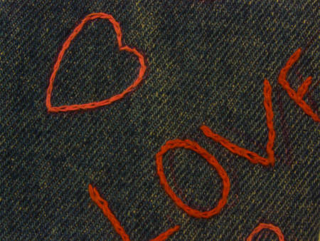thread count: A background colourful close-up photo of a blue tissue with sign