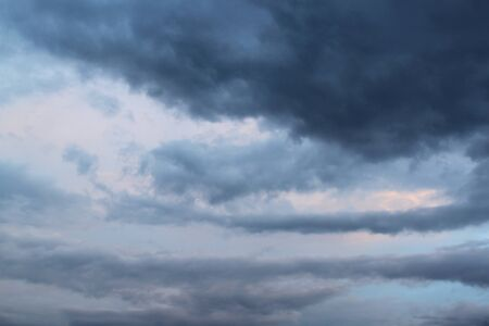 Dark sky. Gray clouds. The evening sky. The sky at sunset Stock Photo