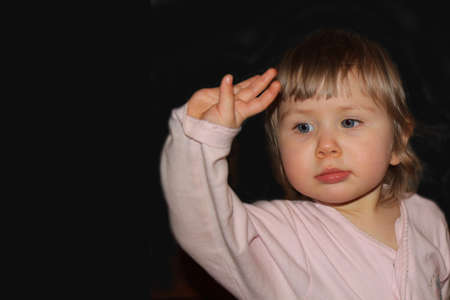 child waves a hand Stock Photo - 9619241
