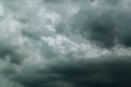 sedimentation: gloomy clouds Stock Photo