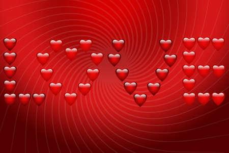 Papel con una inscripci�n de corazones Foto de archivo