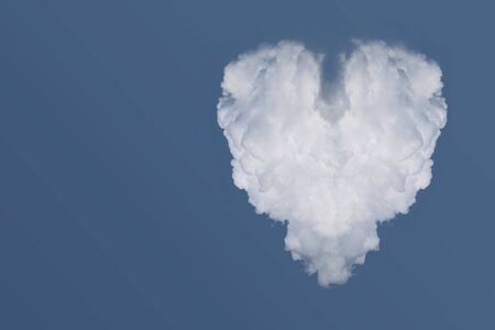 Cloud in the form of heart in the blue sky photo