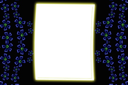 Abstract background - shine flowers Stock Photo