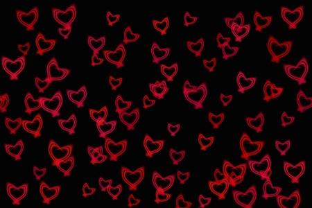 Fondo abstracto - corazones de brillo Foto de archivo