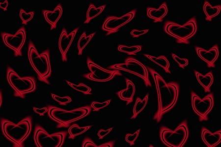 Abstract background - shine hearts Stock Photo