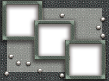 Framework for a photo with pearls
