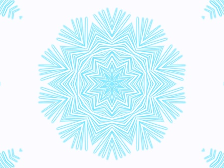 Snowflake. Abstract background
