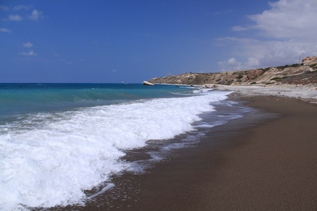 afrodita: Playa cerca de la Afrodita Foto de archivo