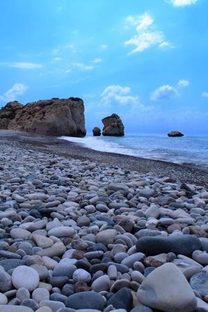 Playa cerca de la Afrodita Foto de archivo